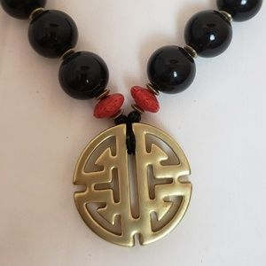 Chico's Asian inspired statement necklace